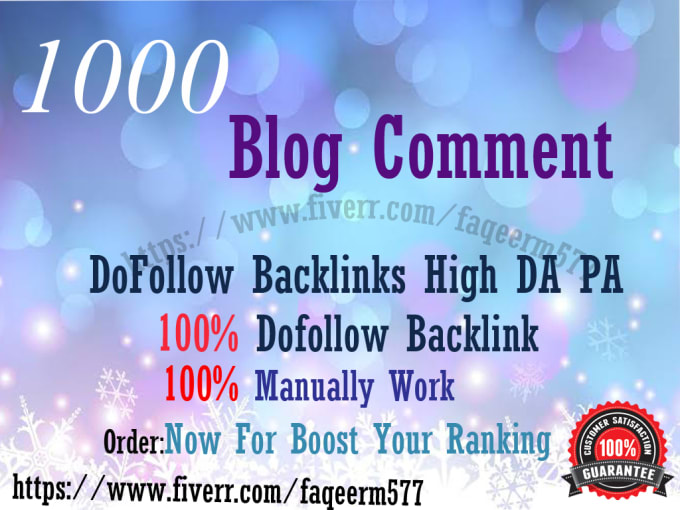 I will 1000 blog comments backlinks high seo service rank on google