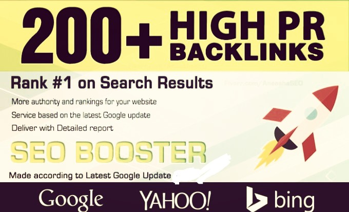 Search Top ranking Build 200 HIGH-QUALITY dofollow Backlink increase domain ranking