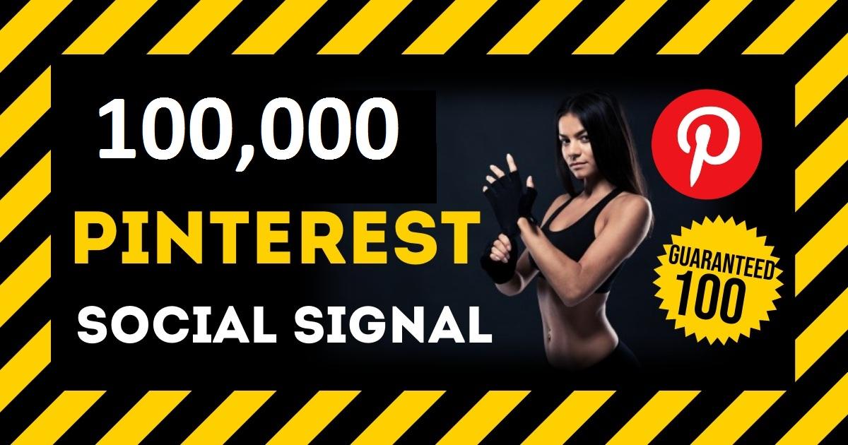 HQ Service 100,000 Pinterest Social Signals PBN Backlink Share Bookmarks Important Google Ranking