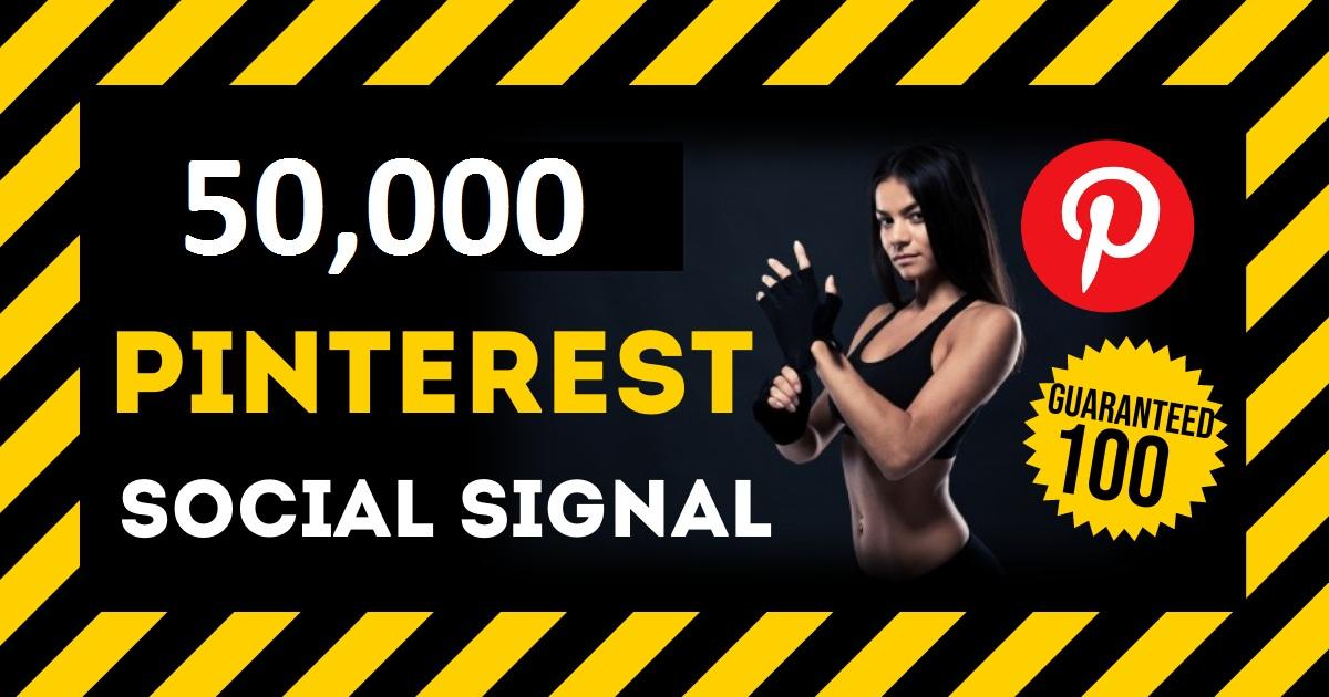 HQ Service 50,000 Pinterest Social Signals PBN Backlink Share Bookmarks Important Google Ranking