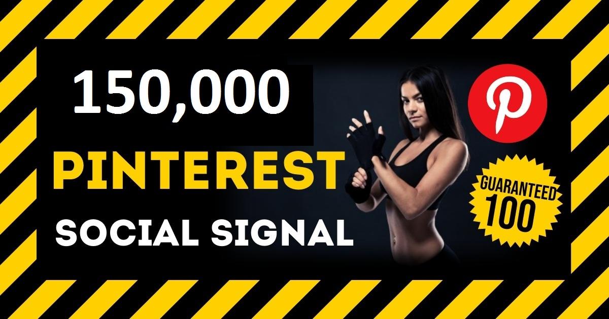 HQ Service 150,000 Pinterest Social Signal PBN Backlink Share Bookmarks Important Google Ranking