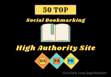I Can do Manually high quality 50 Bookmarking of Social sites for SEO ranking