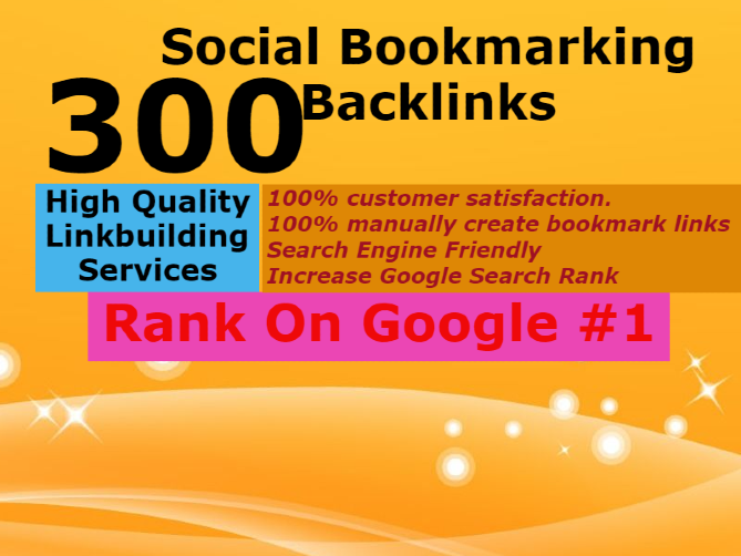 I will do Manually 300 social bookmarking backlinks