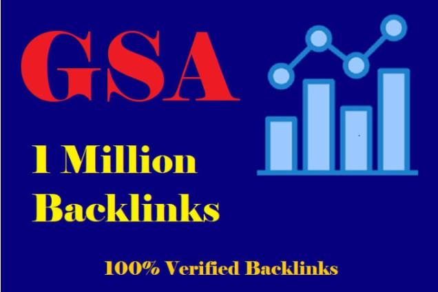 I will create 1 million verified dofollow SEO backlinks for ranking