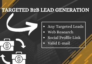 I will provide Targeted B2B Lead Generation and LinkedIn Lead Generation