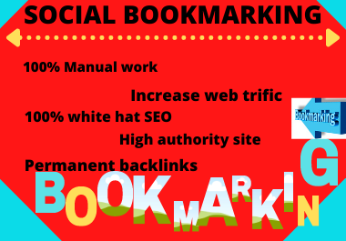 20 social bookmarking High Quality backlinks & improve your website ranking