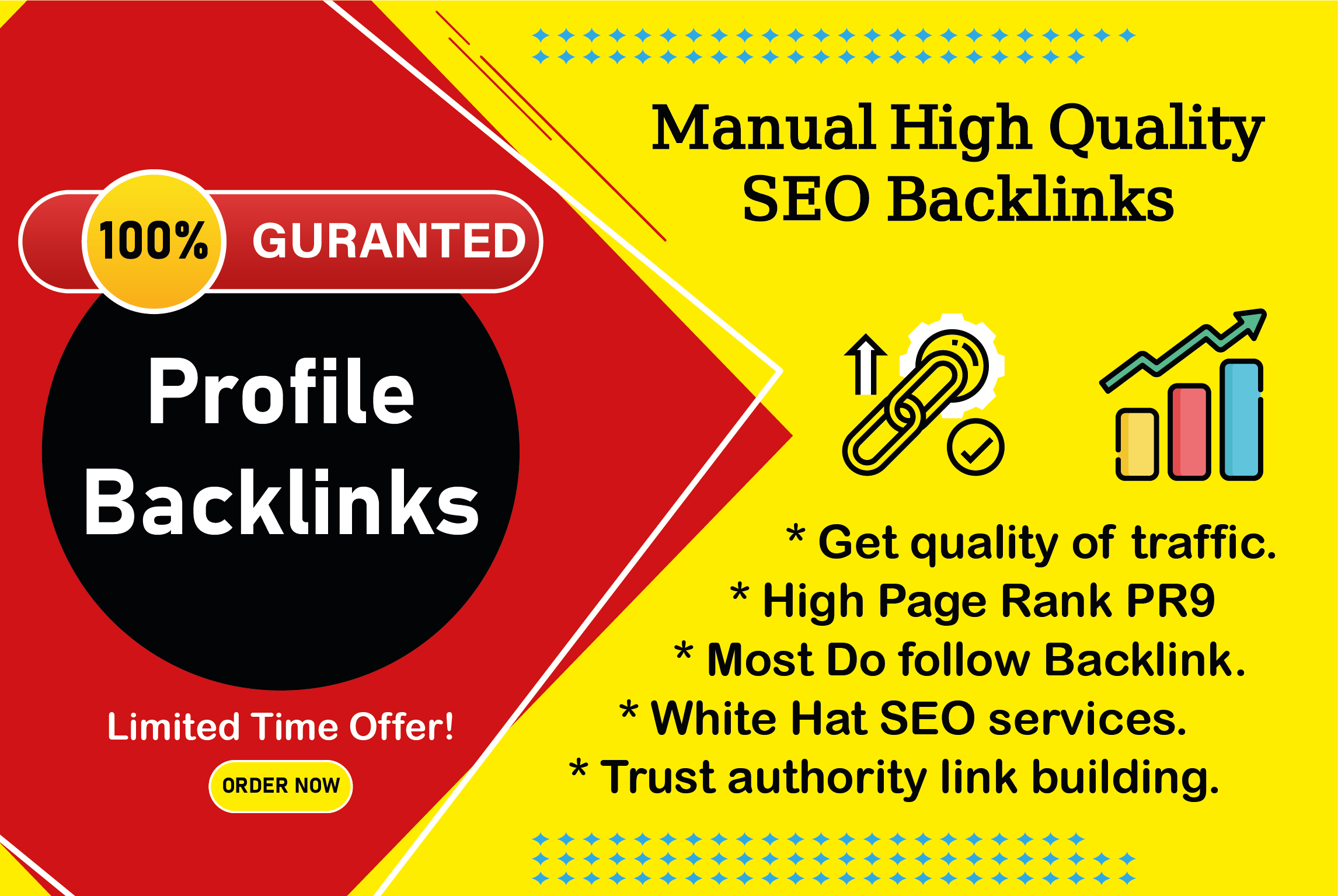 I will provide 40 high authority profile backlinks without spam score