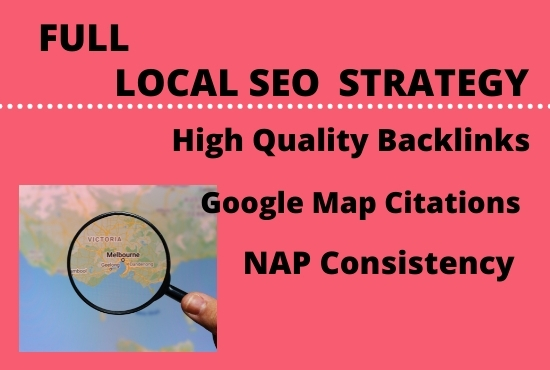I will create a full local SEO campaign for Google map top ranking