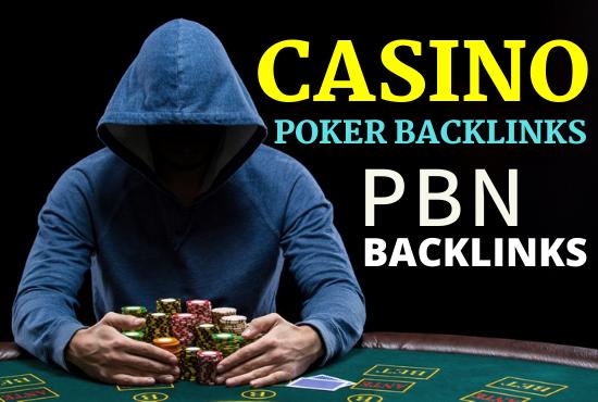 150 Casino Poker & Gambling High Authority Backlinks