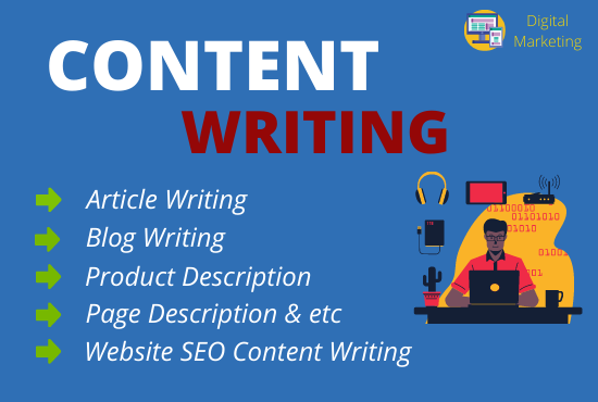 I will write SEO friendly 1500+ Content writing,  Article writing and Blog writing