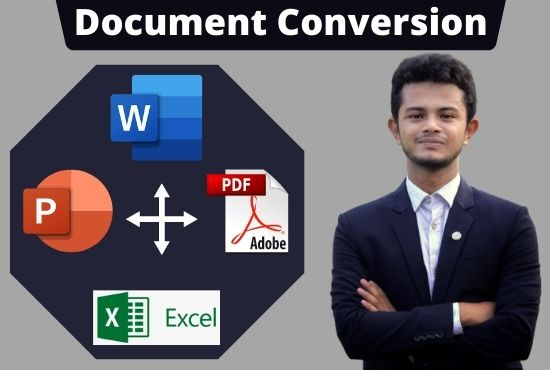 I will do all kinds of data entry,  convert pdf to word or any other editable format