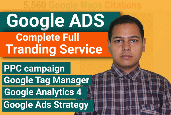 I will set up google ads PPC campaign GTM and ga4