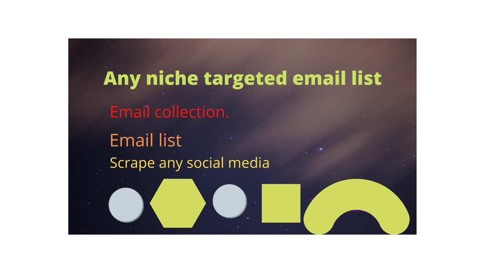 I will find 10k niche targeted email list for you.