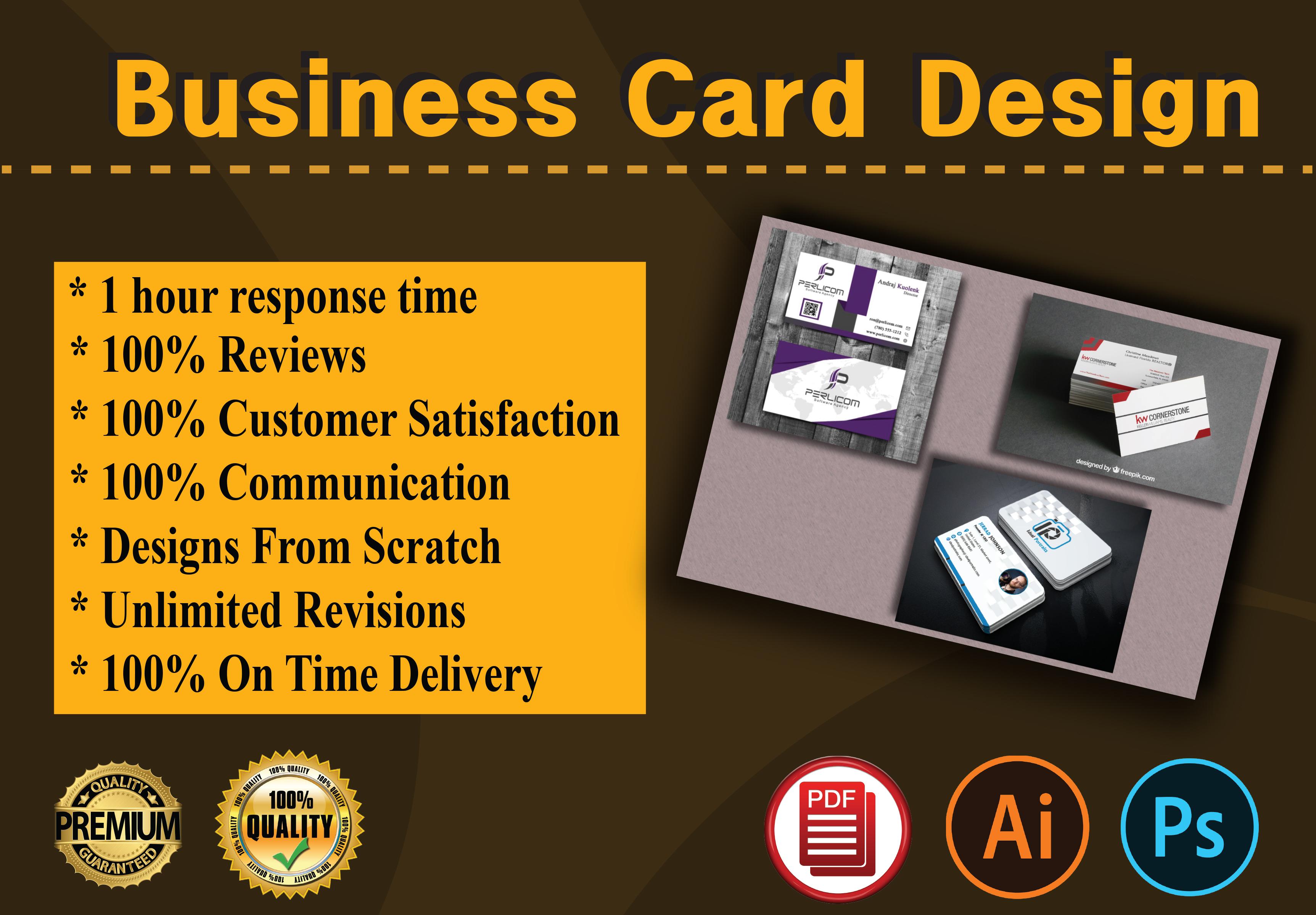 I will Do Creative Business Card Design for you