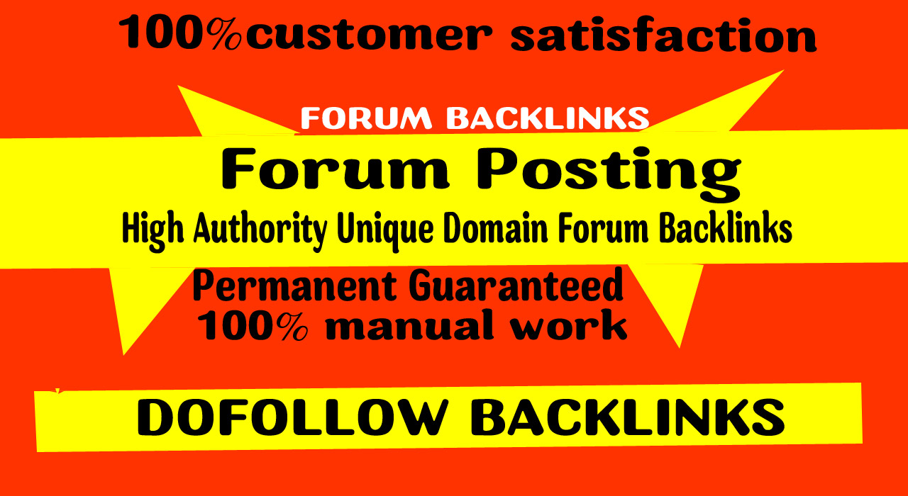 Provide 60 doFollow Forum posting backlinks on High DA Site