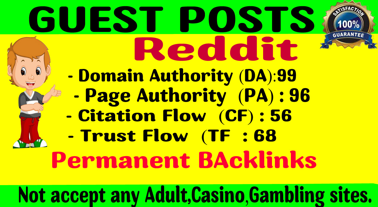 Write And Publish Guest Post on Reddit. com DA99, With Index Guaranteed