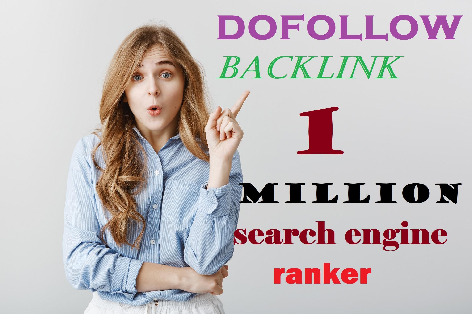 I will 1 million SEO contextual dofollow GSA backlinks
