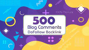 i will a Create Manual 500 High Quality Dofollow Blog Comments High Authority Backlinks