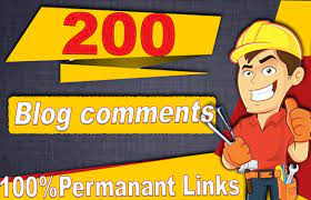 i will a provide 200 high quality blog comments backlink pemanant links