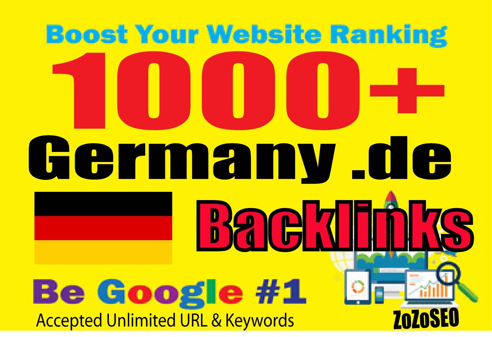 1000+ Germany. DE Backlinks From Local DE domains