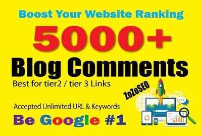 5,000 Blog Comments SEO Backlinks