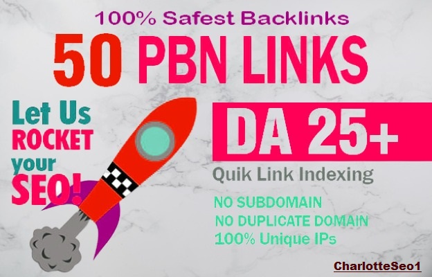 Get 50 pbn backlinks with high DA /PA / TF / CF on your homepage
