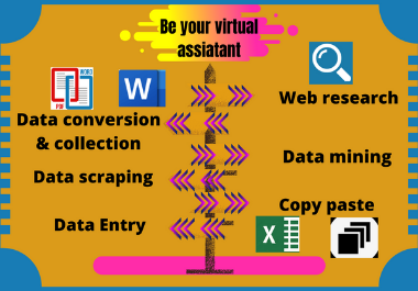 I will be your exclusive virtual assistant for data entry and typing work.