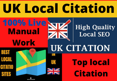 Live 10 UK local citations and directory submission or business listing for local SEO