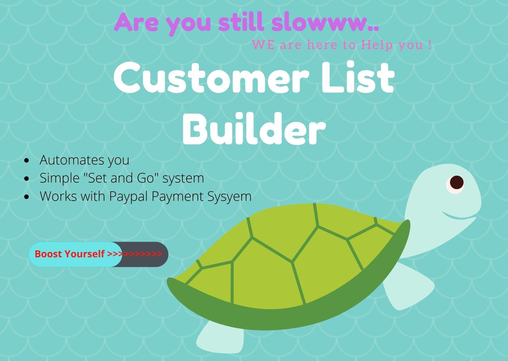Customer List Builder - Ultimate way to build Profit