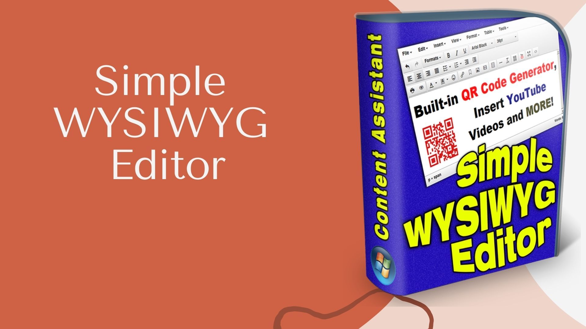 Simple WYSIWYG Editor Insert Youtube Videos and MORE.