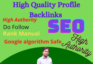 Manually 25 Profile Backlinks Do-Follow DA 50+ SEO Backlinks for your Site Ranking