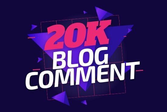 20,000 Blog comment backlinks for SEO Boost Ranking on Google