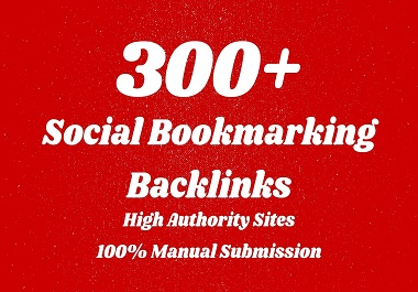 I will do 300 social bookmarking SEO backlinks for google ranking