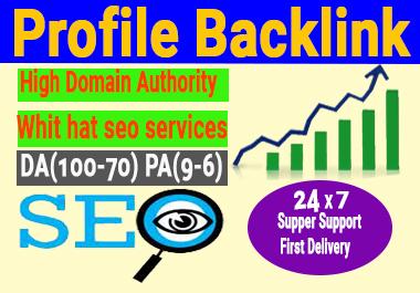 Lives 30 Profile Backlinks High Authority permanent DA 50+ do follow backlinks