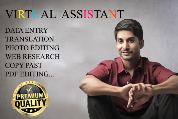 I will be your exclusive virtual assistant,  data entry and copy paste