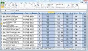 Data entry in Excel sheet in Microsoft office offline or online.