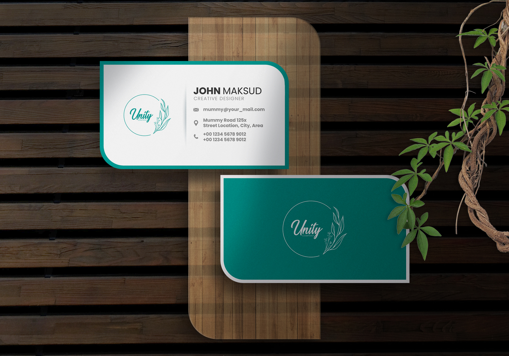 I will create a minimalist and modern business card in 6 hours