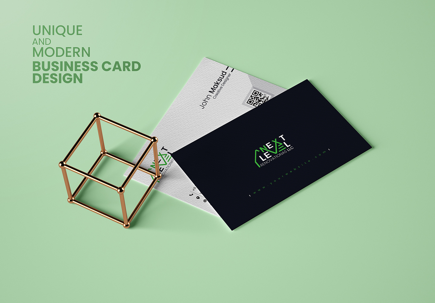 I will create unique and modern Business Card Design in 6 hours