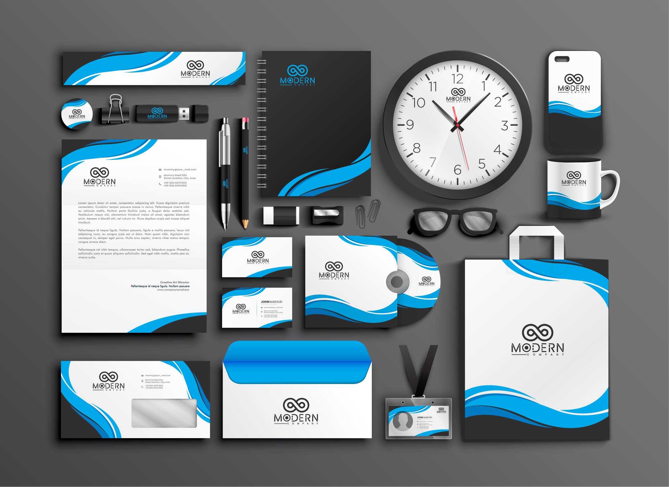 I will design business card,  logo invoice,  and full stationery items