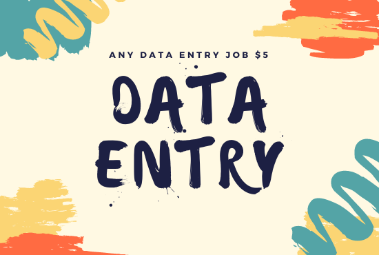 I will do data entry, copy paste on word and excel
