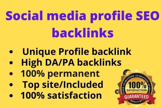 I will do 100 social media SEO profile backlinks