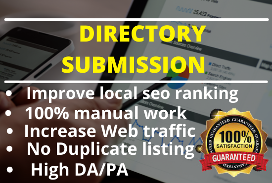 I will do 100 directories submissions manually