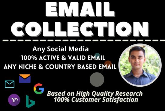 I will collect up to 5k niche targeted Email list for your business.
