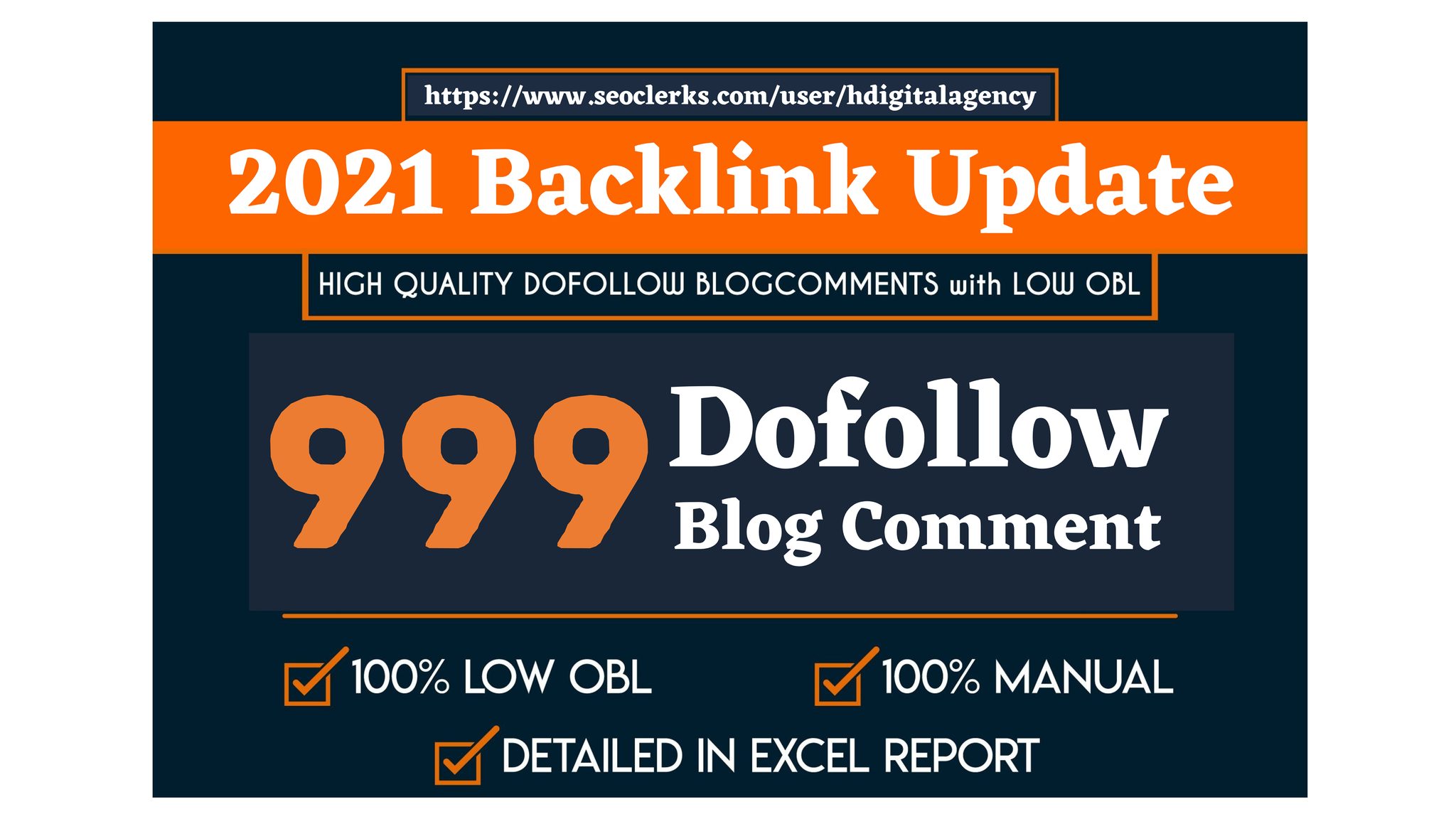 I will create 999 dofollow blog comment backlinks