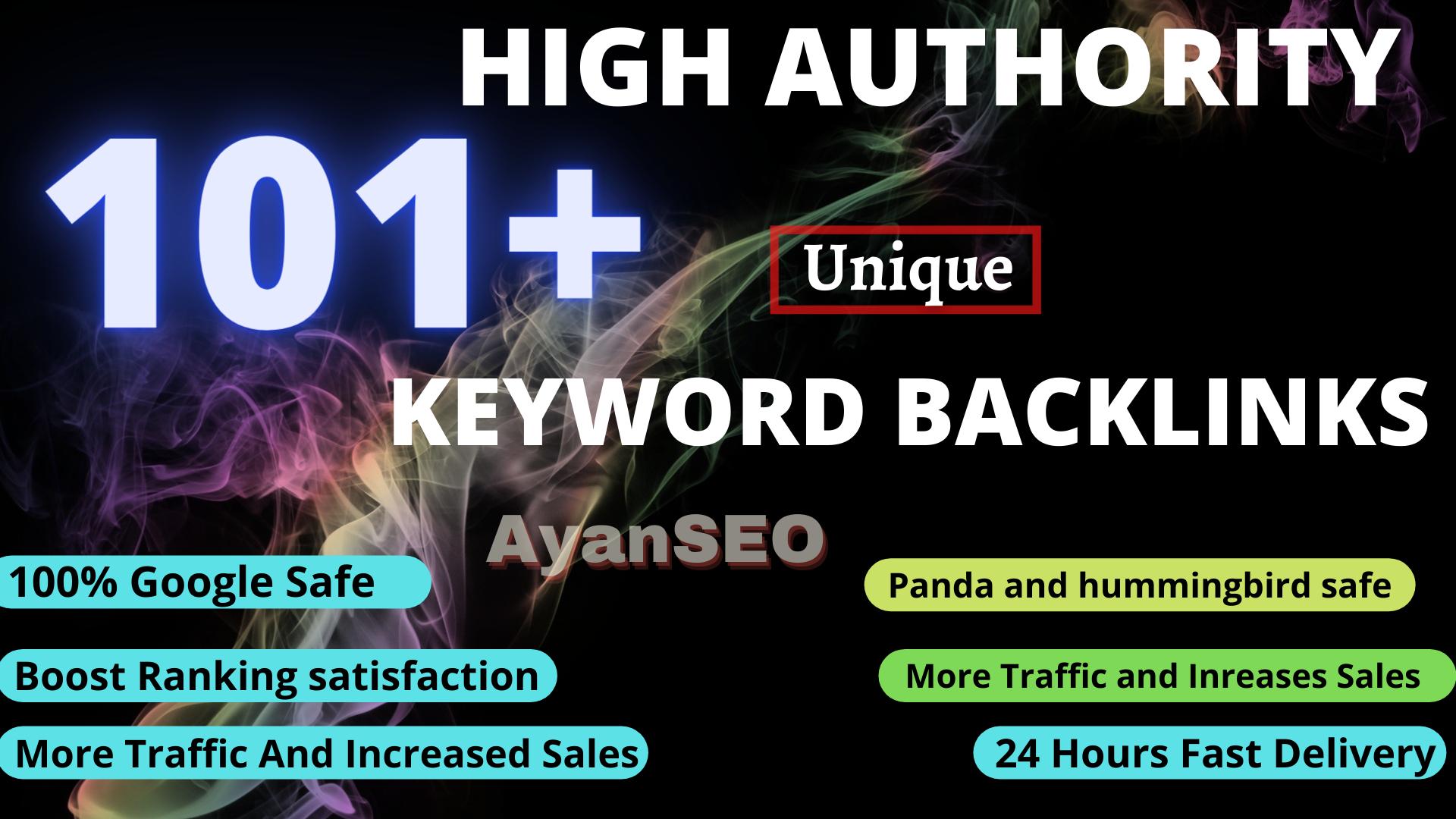 Exlusively-Google 1st Rank Boost High Authority 101+ Keyword BackLinks