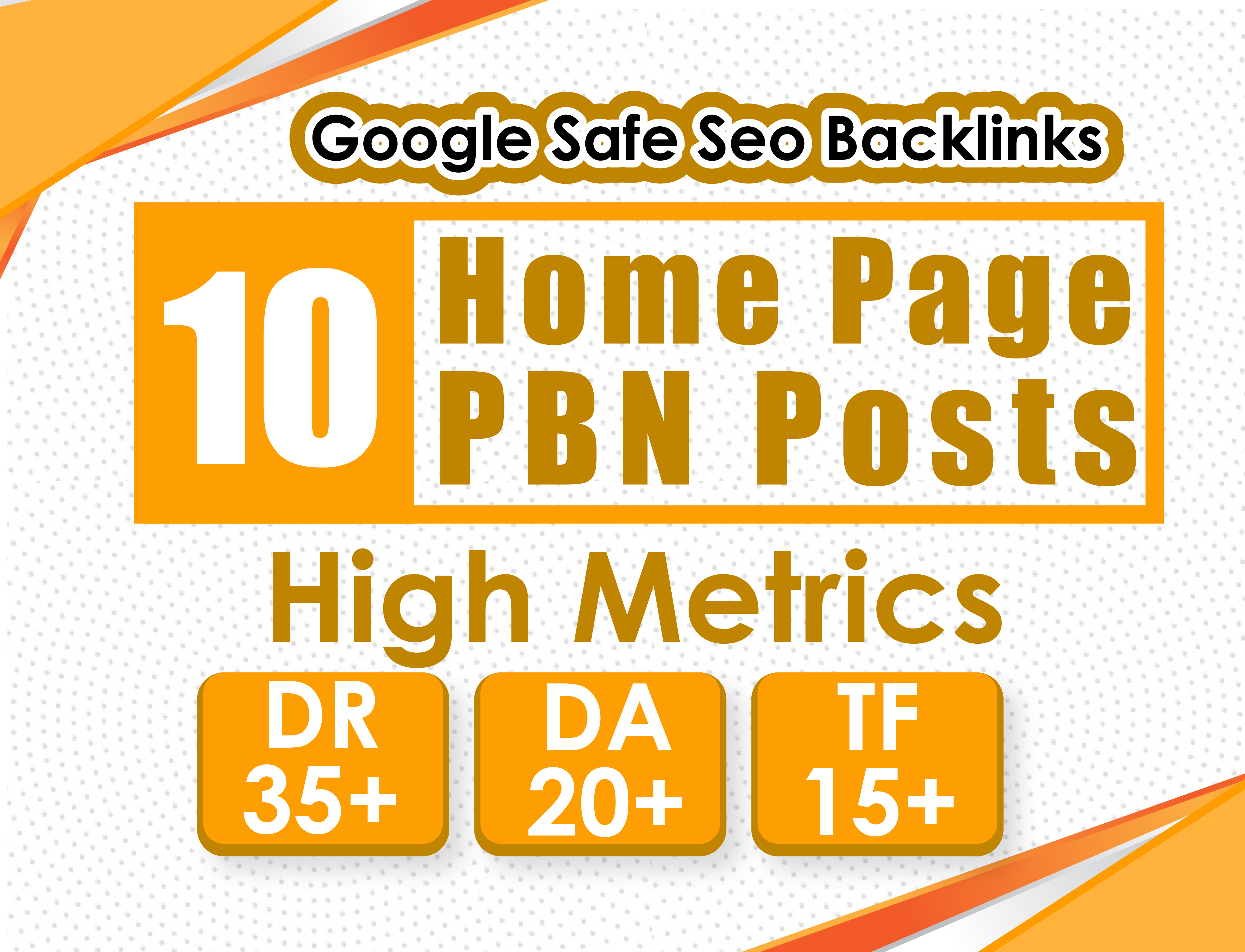 Build 10 High PA DA TF CF HomePage PBN Backlinks
