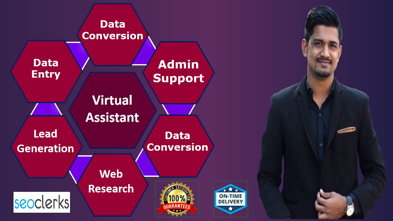 I will do any virtual assistant,  copy paste and data entry job