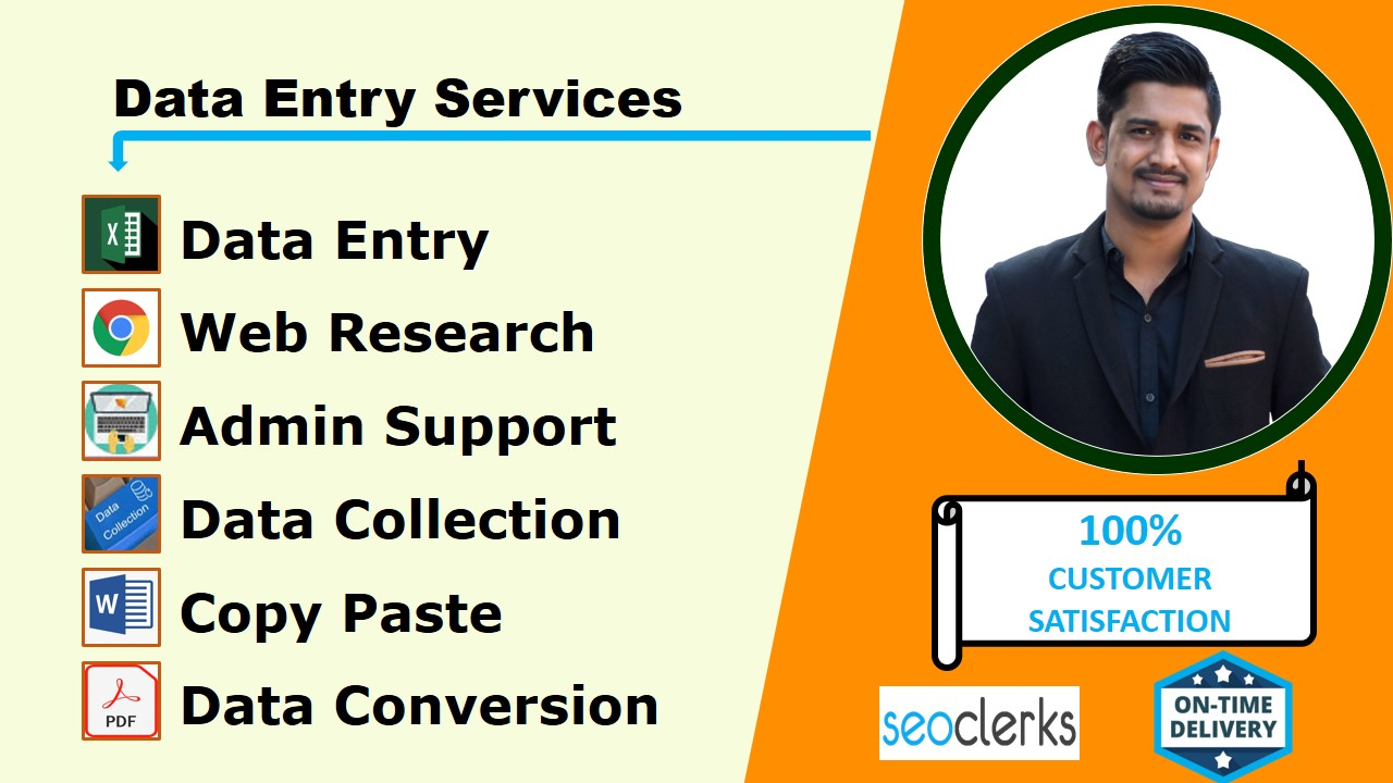 I will do perfect data entry,  copy paste and web research