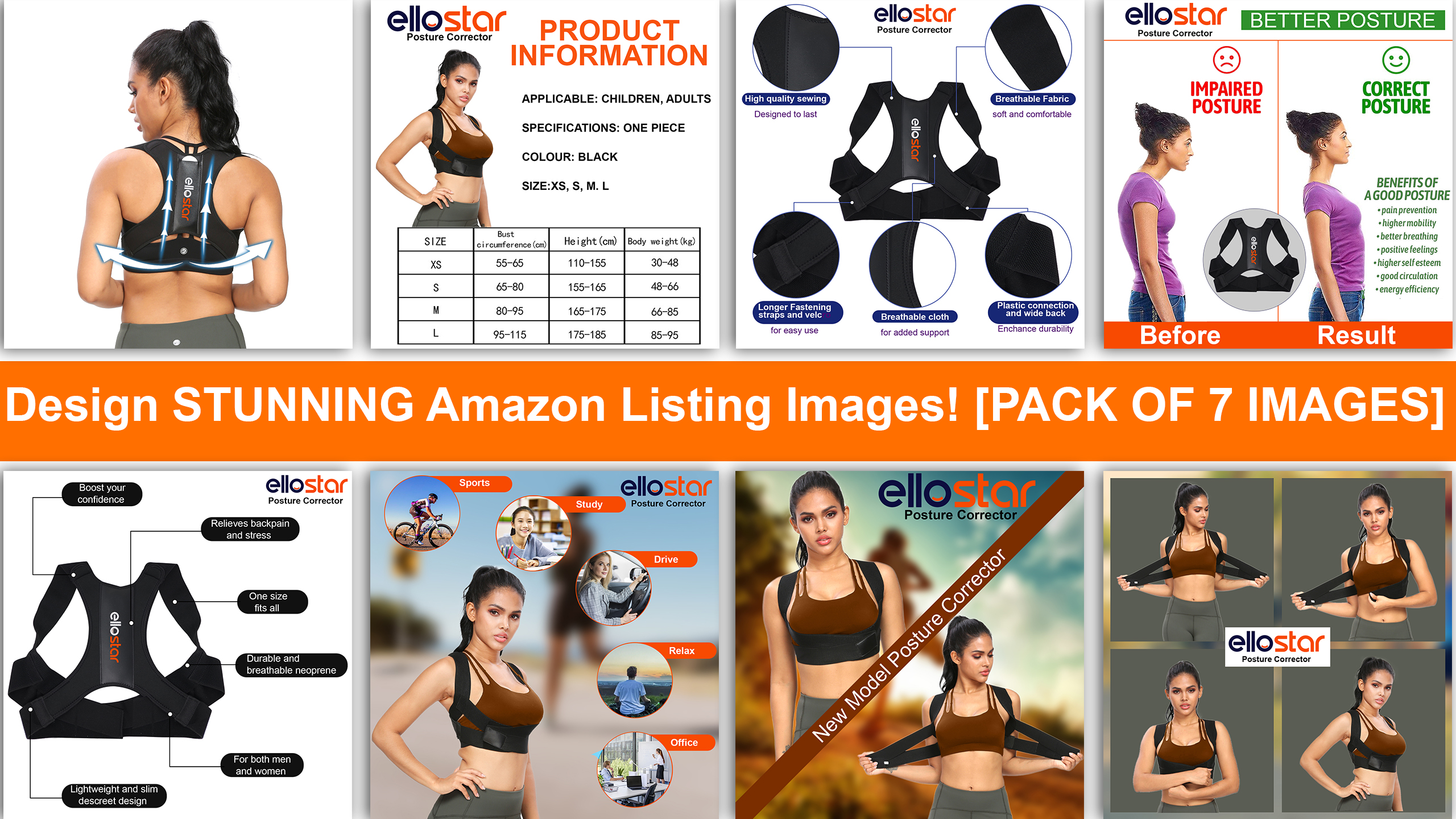 Design Top Quality Amazon Listing Images PACK OF 7 IMAGES