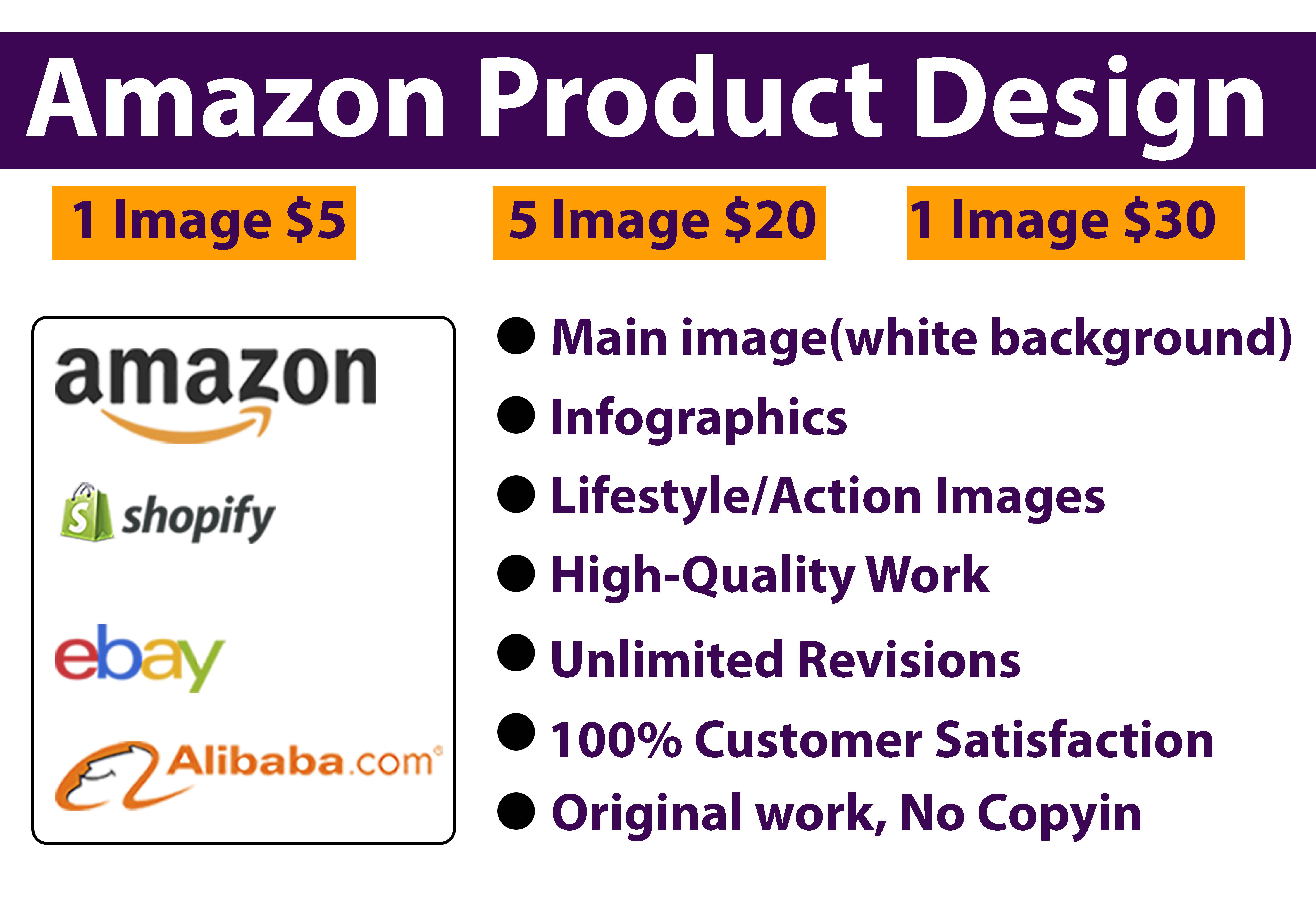 I will do top quality amazon product listing images,  infographics,  Lifestyle